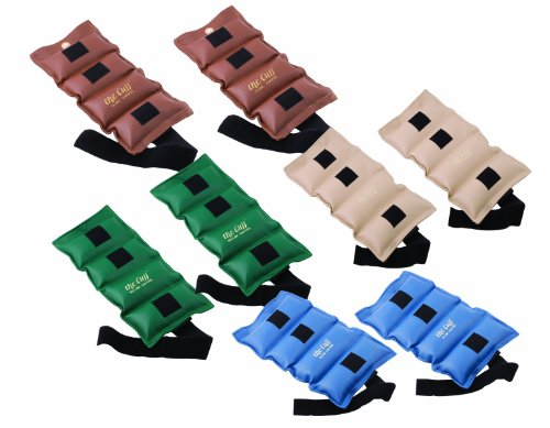 The Cuff Original Adjustable Ankle and Wrist Weight for Yoga, Dance, Running, Cardio, Aerobics, Toning, and Physical Therapy.  7 Piece Set - 1 each 1, 2, 3, 4, 5, 7.5, 10 lb