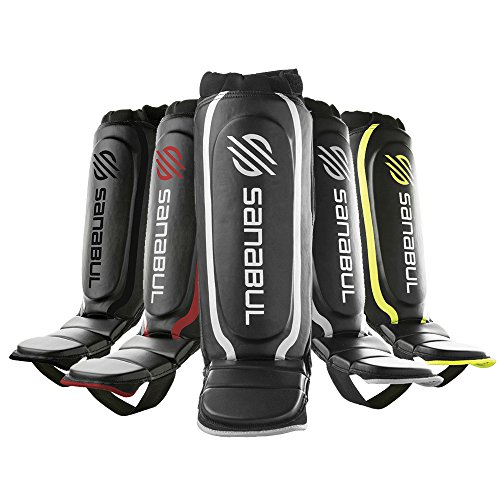 Sanabul Essential Shin Guards Silver, Small/Medium