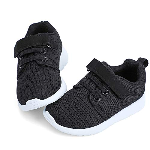 hiitave Toddler Boys Shoes Boys' Trail Running Sneakers Athletic Tennis Shoes for Fall,School Black/White 7 M US Toddler