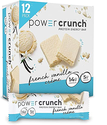 Power Crunch Protein Energy Bar, French Vanilla Creme, 12 pk 1.4 oz (40 g)(Pack of 1)