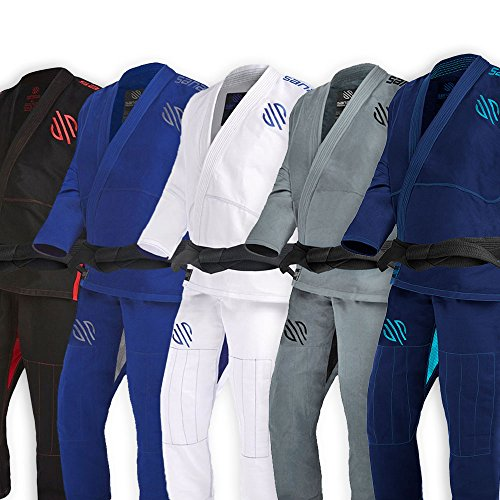 Sanabul Essentials V.2 Ultra Light Pre Shrunk BJJ Jiu Jitsu Gi (Navy, A0) See Special Sizing Guide