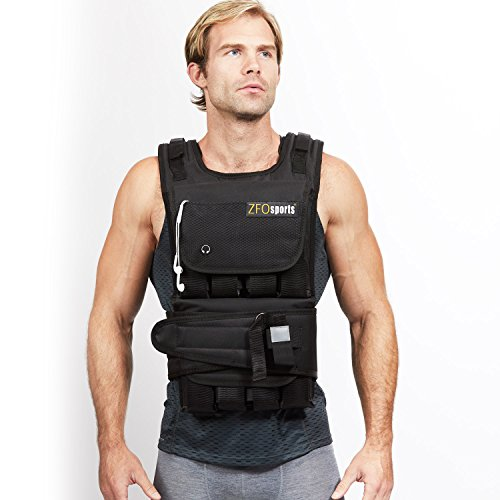 ZFOsports 40LBs Adjustable Weighted Vest