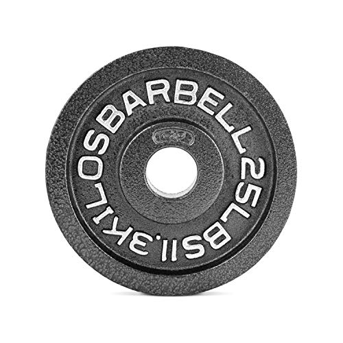 Cap Barbell Black Olympic Plate- 45 lbs