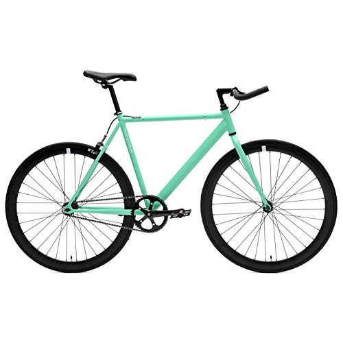 Retrospec Critical Cycles Classic Fixed-Gear Single-Speed Bike with Pursuit Bullhorn Bars, 43cm/X-Small, Celeste