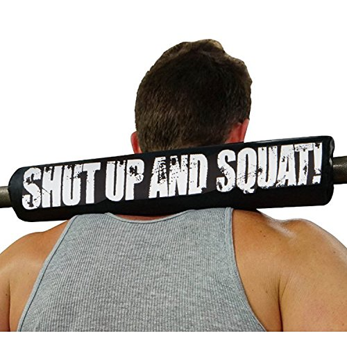 shut up and squat high density 17 inch long length barbells nek accessories fits smith machines used for bodybuilding weight-lifting training wod hip thrust exercise lunge calf raises cushions back