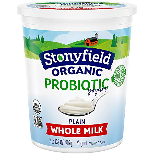 Stonyfield Organic Plain Whole Milk Probiotic Yogurt 32 oz. Tub