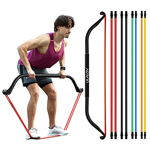 8pcs Work Out Bow Home Gym Resistance Bands,Fitness Equipment System with Resistance Bands, 10-60lb Bands Optional, Can Adjustable Different Levels, Strong and Safe Bands Suitable for Exercise Kits