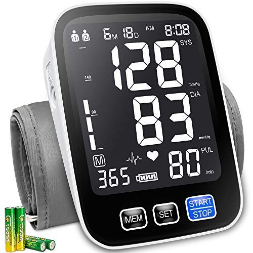 Bestune Blood Pressure Monitor - Upper Arm Automatic Accurate Digital BP Machine Kit with Extra Large Cuffs for Home Use(9-17inch),XL Backlit Display,1000 Readings