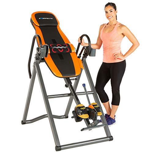 Exerpeutic 475SL Inversion Table with AIRSOFT No Pinch Ankle Holders & SURELOCK Safety Ratchet System