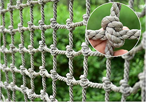 Climbing Net for Kids,Safety Nets Cargo Rope Ladder Truck Trailer Heavy Duty Netting Balcony Banister Stair Protection Fence Decor Mesh Nets Netting,for Container Grid Rail Playground Indoor Outdoor