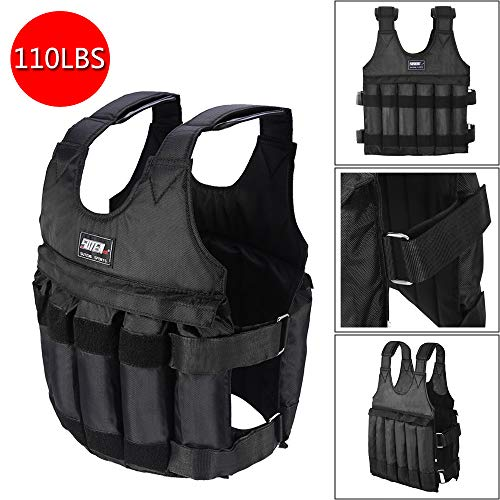 ASfairy Force Weighted Vest Adjustable Weight Vest for Running & Mobility Max Load 110LB Exercise Training Fitness, Highly Flexible Compression