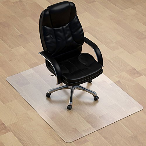 Thickest Chair Mat for Hardwood Floor - 1/8' Thick 47' X 35' Crystal Clear Chair Mat for Hard Floor, Can't be Used on Carpet Floor