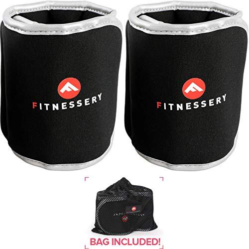 Fitnessery Ankle Weights (2 Pounds x 2) - Ankle Weights for Women and Men - Wrist Weights for Women and Men - Leg Weights for Women and Men - Arm Workout Exercise Weights - Ankle Weight