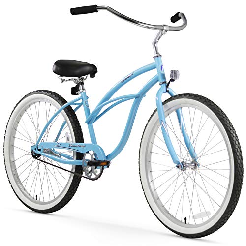 Firmstrong Urban Lady Single Speed - Women's 26' Beach Cruiser Bike (Baby Blue)