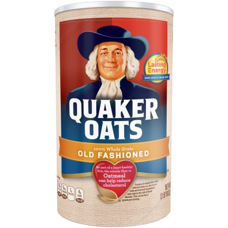 Quaker Oats, Old Fashioned Oatmeal Breakfast Cereal, 42 Oz, (2 Canisters)