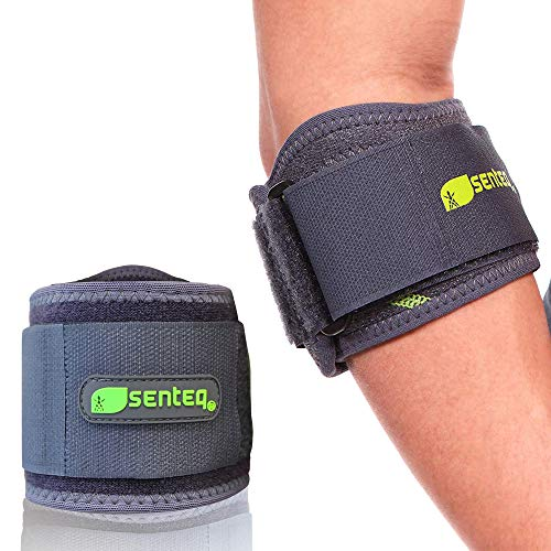 Tennis Elbow Brace Compression Sleeve Men Women Tendonitis Ulnar Nerve Entrapment Support Golfers Cubital Tunnel Arm Sleeves Forearm Pain Relief Strap Braces Weightlifting Band Golfer Neoprene Wraps