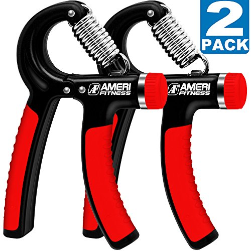 Ameri Fitness Hand Grip Strengthener Strength (Set of 2), Increasing Hand Wrist Forearm Trainer Exerciser; Adjustable Resistance (22~88 Lbs); Non-Slip Gripper