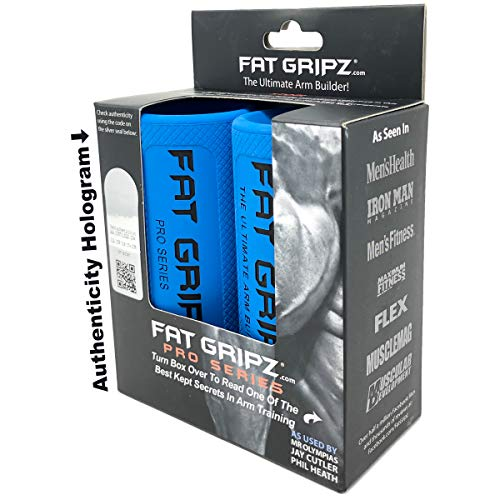 "Fat Gripz - The Simple Proven Way to Get Big Biceps & Forearms Fast (Winner of The Men's Health Magazine Home Gym Award 2020) (2.25"" Outer Diameter)"