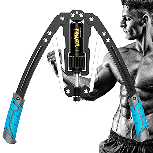 Untimaty Power Twister Arm Exerciser Adjustable Hydraulic Power Twister Arm Exerciser Home Chest Expander Muscle Shoulder Training Fitness Equipment Home Chest Expander 22-440 lbs