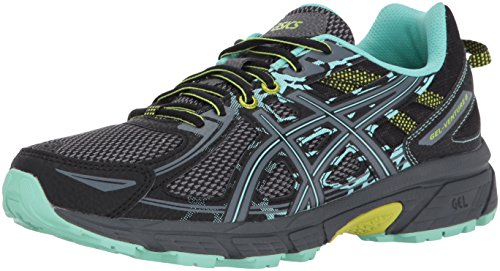 ASICS Women's Gel-Venture 6 Running Shoes, 8.5W, Black/Carbon/NEON Lime