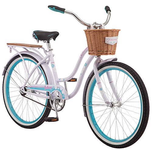 Schwinn Destiny Womens Beach Cruiser Bike, Single Speed, 24-inch Wheels, Purple
