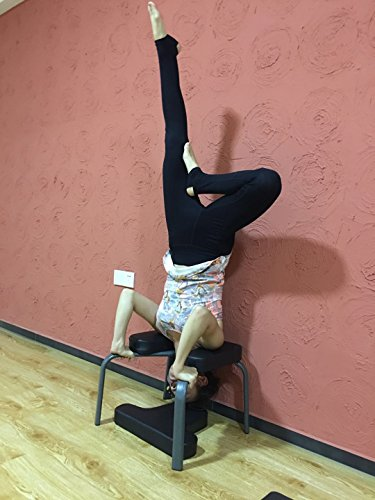 Aozora Body Balanced Headstand Bench- Ideal Chair for Practice Head Stand, Shoulderstand, Handstand and Various Yoga Poses. | Perfect for Both Beginner and Experience Yogis (Black)