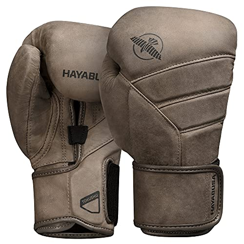 Hayabusa T3 LX Leather Boxing Gloves for Men and Women - Brown, 16 oz