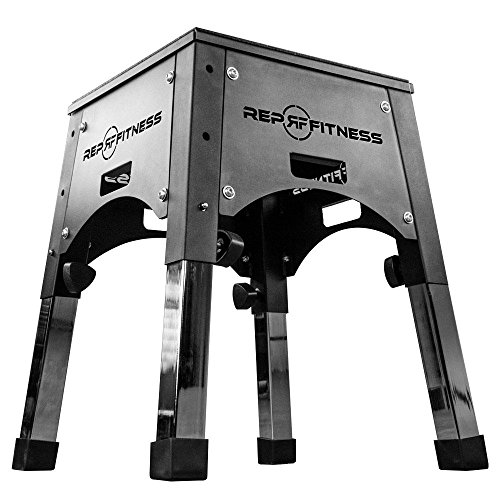 Rep Fully Assembled Adjustable Height Plyo Box 16/20/24 Plyometric Box for Agility Workouts and Box Jump Training