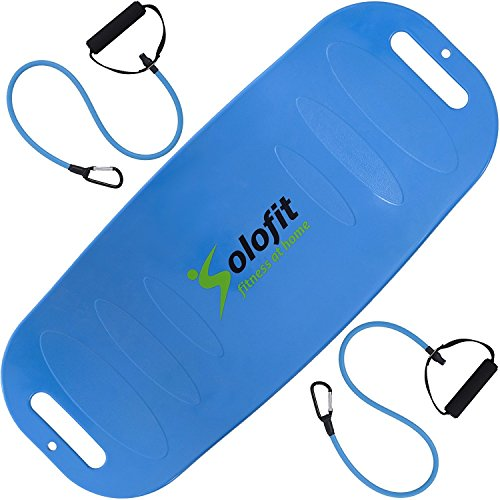 Solofit Balance Fit Board with Resistance Bands (Blue)