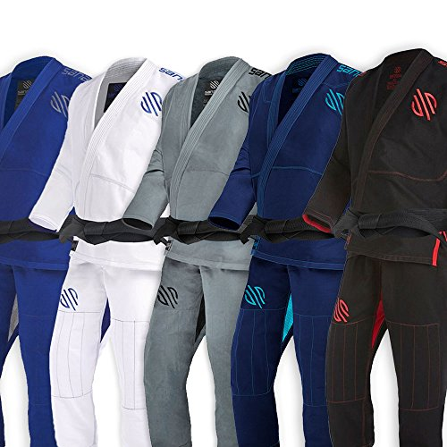 Sanabul Essentials V.2 Ultra Light Pre Shrunk BJJ Jiu Jitsu Gi (Black, A1) See Special Sizing Guide