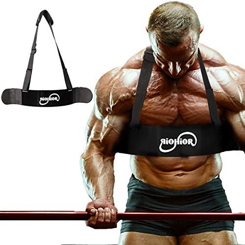 RIOHIOR Arm Blaster for Biceps & Triceps Curl Support for Bodybuilding & Weight Lifting Workout Bicep Isolator Black