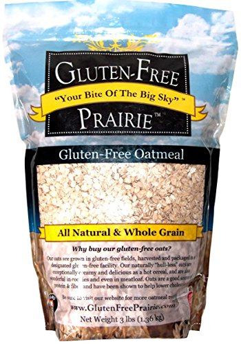 Gluten Free Prairie Oatmeal, 3 Pounds - Certified Gluten Free, Non-GMO, All Natural, Whole Grain, Vegan, Low Glycemic, Heart Healthy, High in Protein, Fiber, and Vitamin B