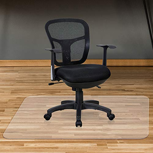 Office Chair Mat for Hardwood Floor - 36 x 48 inches Transparent Floor Mat for Computer Desk, Easy to Clean and Flat Without Curling(36' X 48' Rectangle)