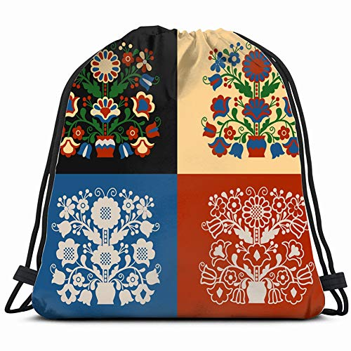 set tree life the arts bulgarian nature Drawstring Backpack Gym Sack Lightweight Bag Water Resistant Gym Backpack for Women&Men for Sports,Travelling,Hiking,Camping,Shopping Yoga