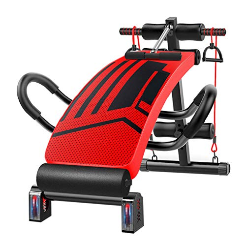 KEVCHE Adjustable Weight Bench Abdominal Trainers for Home Gym Outdoor (red)