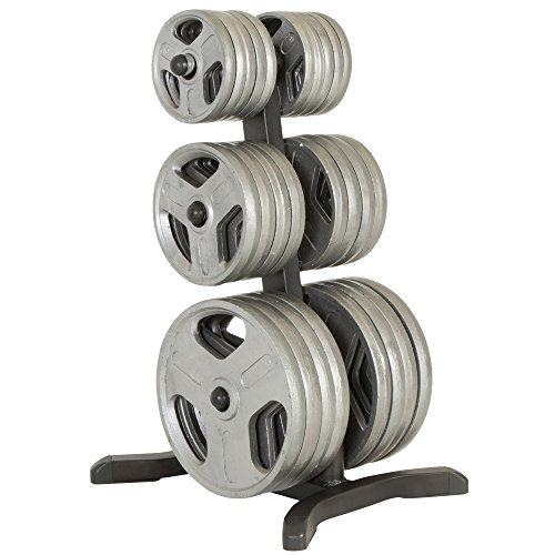 Fitness Reality Olympic Weight Tree/Plate Rack/Bar Holders/Chrome Storage Posts, 1000 lb