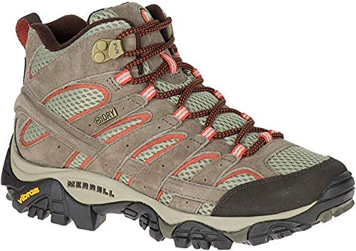 Merrell Women's Moab 2 Mid Waterproof Hiking Boot, Bungee Cord, 11 M US