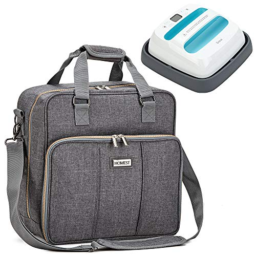 HOMEST Heat Press Machines Carrying Case, Compatible with 9 x 9 inches Cricut Easy Press 2, Grey (Patent Pending)