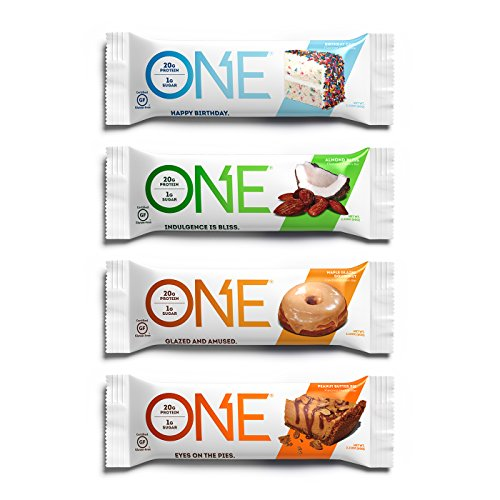 ONE Protein Bars, Best Sellers Variety Pack, Gluten-Free Protein Bar with 20g Protein and only 1g Sugar, Snacking for High Protein Diets, 2.12 oz (12 Pack)