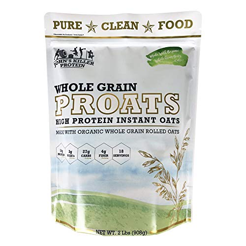 New - John's Killer Protein – PROATS - Organic high Protein Oats. 2X Protein of Regular Oats. Made with Our Non-GMO Organic Whole Grain Oats. Simplify Your Mornings with This Healthy Breakfast.
