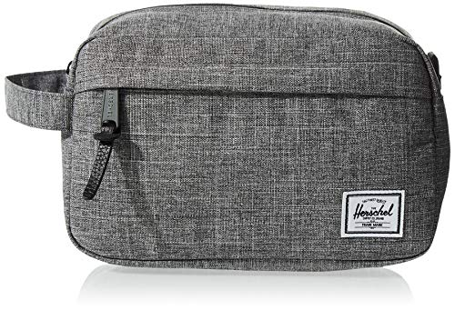 Herschel Chapter Travel Kit, Raven Crosshatch