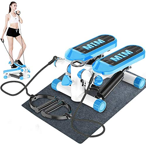 Steppers for Exercise Twister Stepper - Swing Stepper & Sidestepper For Beginners & Advanced Users 2In1, Up-Down-Stepper With Multifunction Display, PVC Home Step Fitness machines ( Color : Blue )