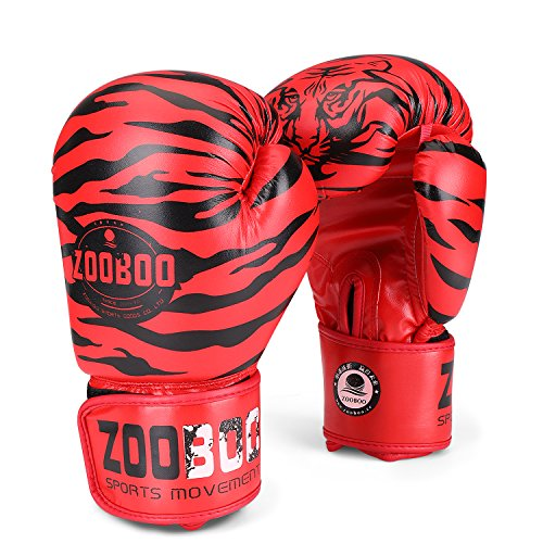 Flexzion 10 oz Boxing Gloves for Men, Youth, and Women, Tiger Boxing Gloves Punching Bag Gloves 10oz Ounce for Kickboxing, MMA, Muay Thai, Training, Sparing, Bagwork with Wrist Wrap