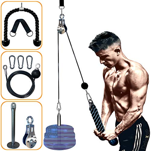 Pulley System Gym - pulley pro for Workout-new Pulley Cable System- your ultimate Home Gym System this LAT Pull Down Machine weight pulley system is suitable for all Cable pulley attachments for gym