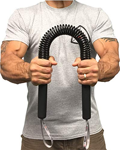Core Prodigy Python Power Twister Bar - Upper Body Exercise for Chest, Shoulder, Forearm, Bicep and Arm Strengthening Workout Equipment