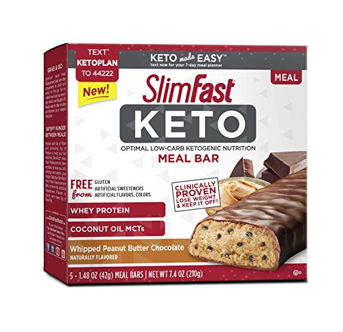 Keto Meal Replacement Whipped Peanut Butter Chocolate Bar 1.48 oz 5 bars per box (4 boxes)