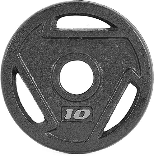 CAP Barbell 2-Inch Olympic Grip Plate (10-Pound (Set of 2)), Black