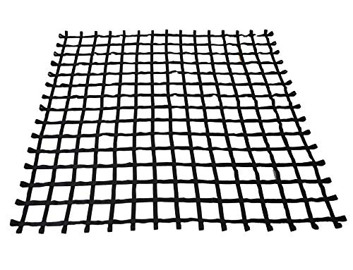FONG 12 ft X 12 ft Climbing Cargo Net Black Heavy Duty -Obstacle Climbing Net Outdoor - Cargo Net for Climbing Wall - Both for Kids and Adults
