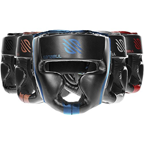 Sanabul Essential MMA Boxing Kickboxing Head Gear (Black, S/M)