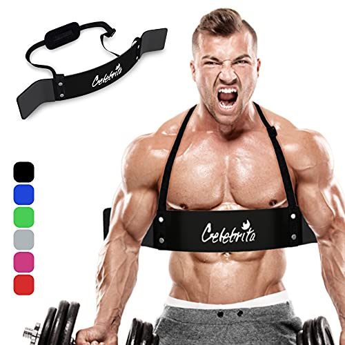 Celebrita MMA Arm Blaster for Biceps & Triceps, Bicep Curl Support Isolator Gives Proven Massive Results - Heavy Duty Bicep Blaster for Body Builders & Weight Lifting Accessories